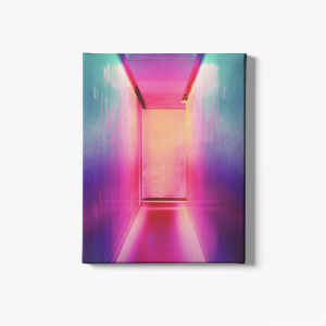 colorful passage wall canvas