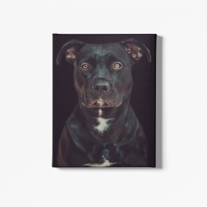 Black dog wall canvas