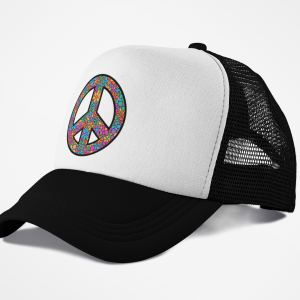 DAZ Prints Peace Trucker Cap